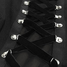 Load image into Gallery viewer, Black Punk Cross Straps Tie Slim A Line Dress SP13410