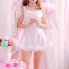 Load image into Gallery viewer, 4 colors Kawaii Lovely Fur Hem Dance Party Dress Two Piece Set SP13182