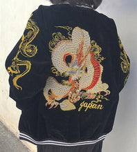 Load image into Gallery viewer, Dragon Zipper Bomber Baseball Jacket SP14950