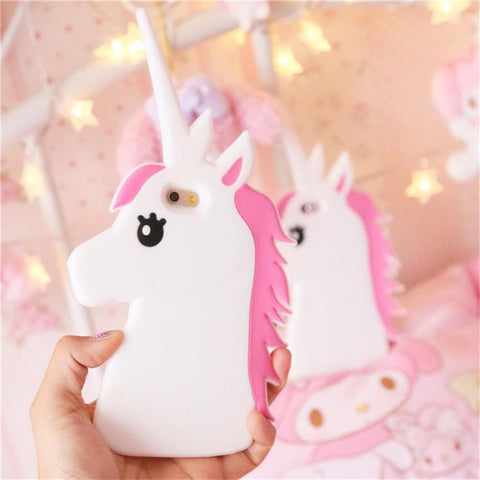 Cartoon Unicorn Horse Soft Silicone Phone Cases SP179535