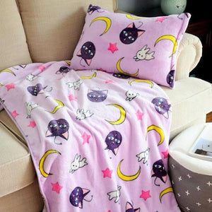 Sailor moon Tsukino Usagi Cosplay Props Luna Cat Flannel Blankets SP13253
