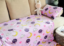 Load image into Gallery viewer, Sailor moon Tsukino Usagi Cosplay Props Luna Cat Flannel Blankets SP13253