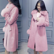 Load image into Gallery viewer, Elegant Fashion Collar Detachable Fur Collar Wool Blend Coat S13168