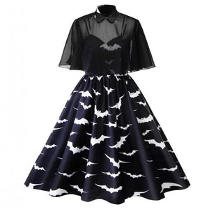 Plus Size Bat Cape Dress SP14239
