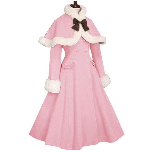 11 Colors Custom-made Fluffy Lolita Cape Coat SP1711437