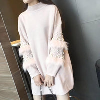Pearl loose rabbit fur Sweater