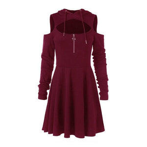 Black/Wine/Purple Hollow Out Gothic Dress SP14251