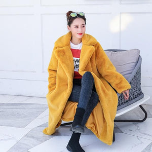 Winter Faux Fur Long Fluffy Jacket Coat SS060