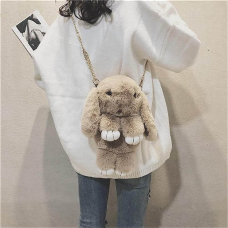 5 Colors Kawaii Plush Bunny Cross-Chain Bag SP13268