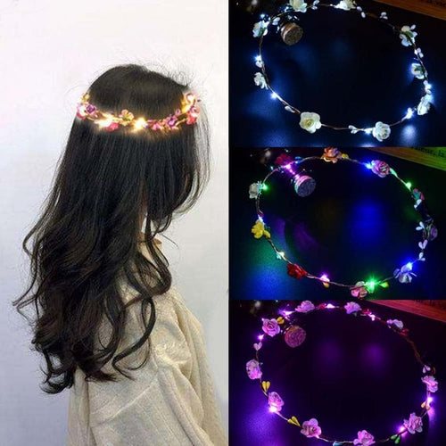 Glowing Garland Crown Flower LED Headband SP14250
