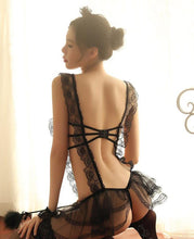 Load image into Gallery viewer, Gothic Lace Temptress Lingerie Set SP002