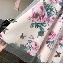 Load image into Gallery viewer, Pink Irregular T Shirt+Mesh Skirt Suits Two Piece Set SP14681 - SpreePicky FreeShipping