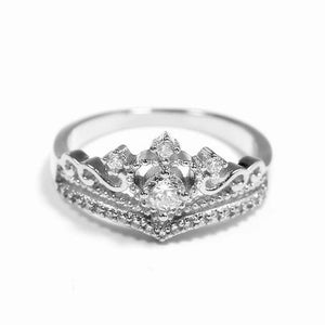 Gold/Silver Crown Ring Alloy  Women's Rings SP14929