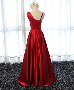 Stylish  Satin Long Prom Gown, Formal Dress - DelaFur Wholesale