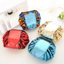 Load image into Gallery viewer, Mermaid Sequined Easy Make up Bag Drawstring