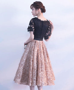 Cute A Line Lace Short Prom Dress - SpreePicky FreeShipping