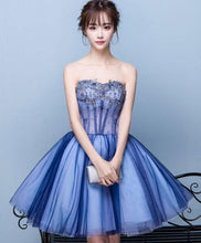 Load image into Gallery viewer, Cute Tulle Lace Sweet Neck Short Prom Dress SP15782 - SpreePicky FreeShipping