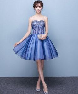 Cute Tulle Lace Sweet Neck Short Prom Dress SP15782 - SpreePicky FreeShipping