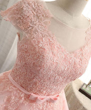 Load image into Gallery viewer, High Quality A Line Lace Short Prom Dress, Homecoming Dresses - DelaFur Wholesale