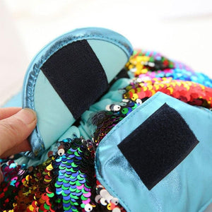 Mermaid Sequined Easy Make up Bag Drawstring