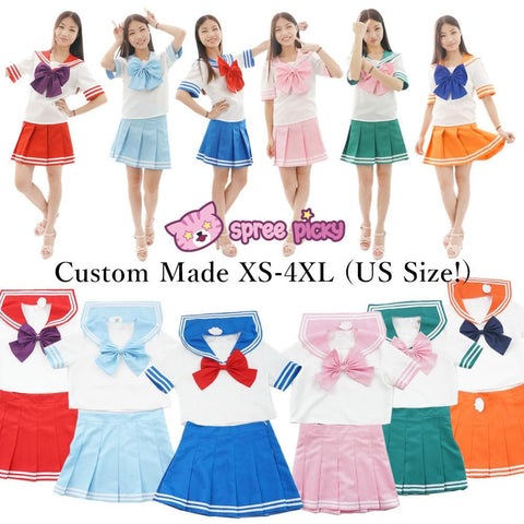 6 colors Daily Cosplay [Sailor Moon Series] Sailor Seifuku Uniform Set SP151734-SP151738
