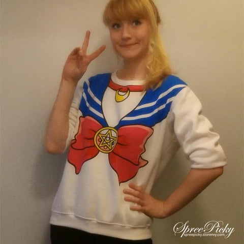[M/XL]Sailor Moon Sweater Fleece Jumper SP130203 - SpreePicky  - 6