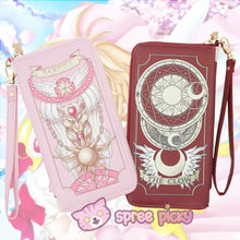 Load image into Gallery viewer, 2 Colors Card Captor Sakura Magic Book Hand Bag Purse Can Pack Phone SP151782 - SpreePicky  - 1