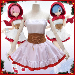 Anime Re:Life in a different world Rem & Ram Cosplay Costume SP14343 - SpreePicky FreeShipping