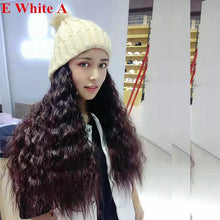 Load image into Gallery viewer, Colorful Knitting Hat With Removable Long Curly Wig 3 SP14770