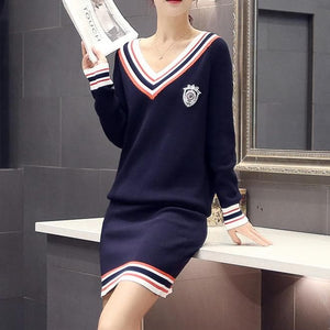Navy/White Fashionable Daily Two Pieces Set SP168106