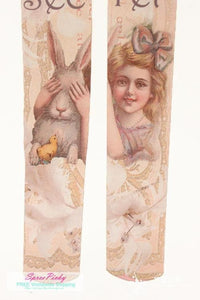 Girl and Rabbit Tattoo Tights  SP130041 - SpreePicky  - 3