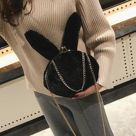 5 Colors Fuzzy Bunny Cross Body Bag SP1711422