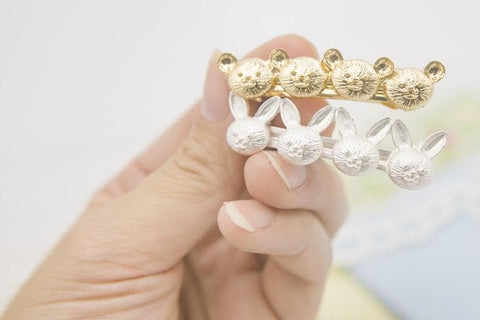 Bear/Bunny Earrings/Hair Clip SP154390 - SpreePicky  - 4