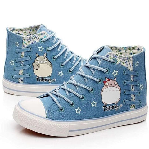 Blue/Navy Kawaii Totoro Canvas Shoes SP168277