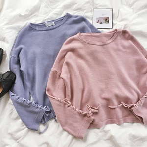 Blue/Pink Pastel Laced Knitting Sweater SP1711464