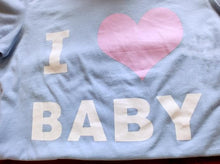 Load image into Gallery viewer, Blue/White I Love Baby T-shirt Top SP153295 - SpreePicky  - 5