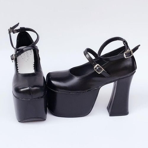 Custom Made Super High Heels Black Shoes SP167740