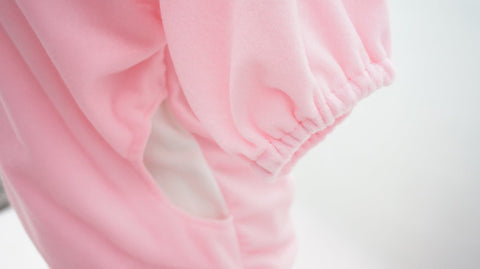 Danganronpa Monomi モノミ/ウサミ Pink/White Cute Hoodie Short Sleeve Pull Over Jumper Top  SP140858 - SpreePicky  - 5