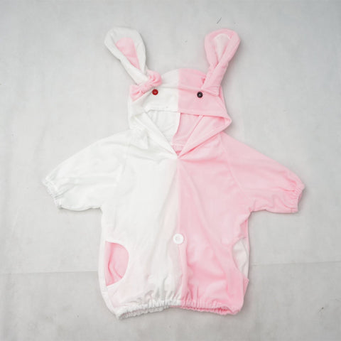 Danganronpa Monomi モノミ/ウサミ Pink/White Cute Hoodie Short Sleeve Pull Over Jumper Top  SP140858 - SpreePicky  - 2