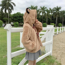 Load image into Gallery viewer, Fluffy Bear Hoodie Coat  SP1711512