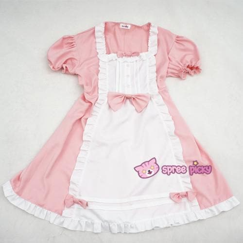 XS - 4XL Mint/Pink Pastel Candy Maid Dress SP152182 - SpreePicky  - 7