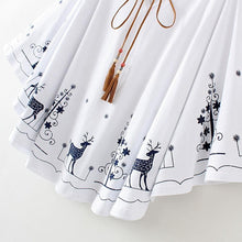 Load image into Gallery viewer, Red/Blue Kawaii Christmas Tree Deer Cape Top SP1812296