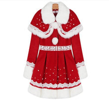 Load image into Gallery viewer, S/M/L Happy Holiday Woolen Cape Coat SP153427 - SpreePicky  - 8