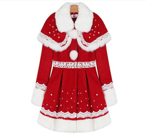 S/M/L Happy Holiday Woolen Cape Coat SP153427 - SpreePicky  - 8