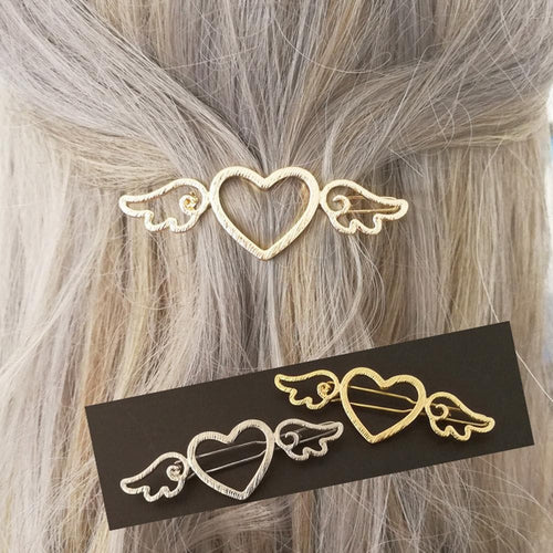 Silvery/Golden Cardcaptor Sakura Wings Heart Hairpin SP1711498