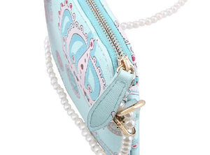 White/Blue Cutie Crown Princess Pearl Shoulder Bag SP153060 - SpreePicky  - 10