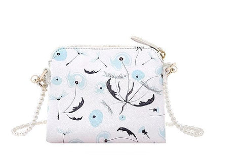White/Blue Cutie Crown Princess Pearl Shoulder Bag SP153060 - SpreePicky  - 8