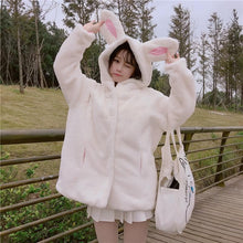 Load image into Gallery viewer, White Fluffy Bunny Winter Coat SP1711462