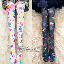 Load image into Gallery viewer, Multicolor Splashed Ink Tights SP130054 Kawaii Aesthetic Fashion - SpreePicky