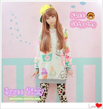 Load image into Gallery viewer, J-fashion Velveteen Sweater - Color Cakes SP130111 - SpreePicky  - 1